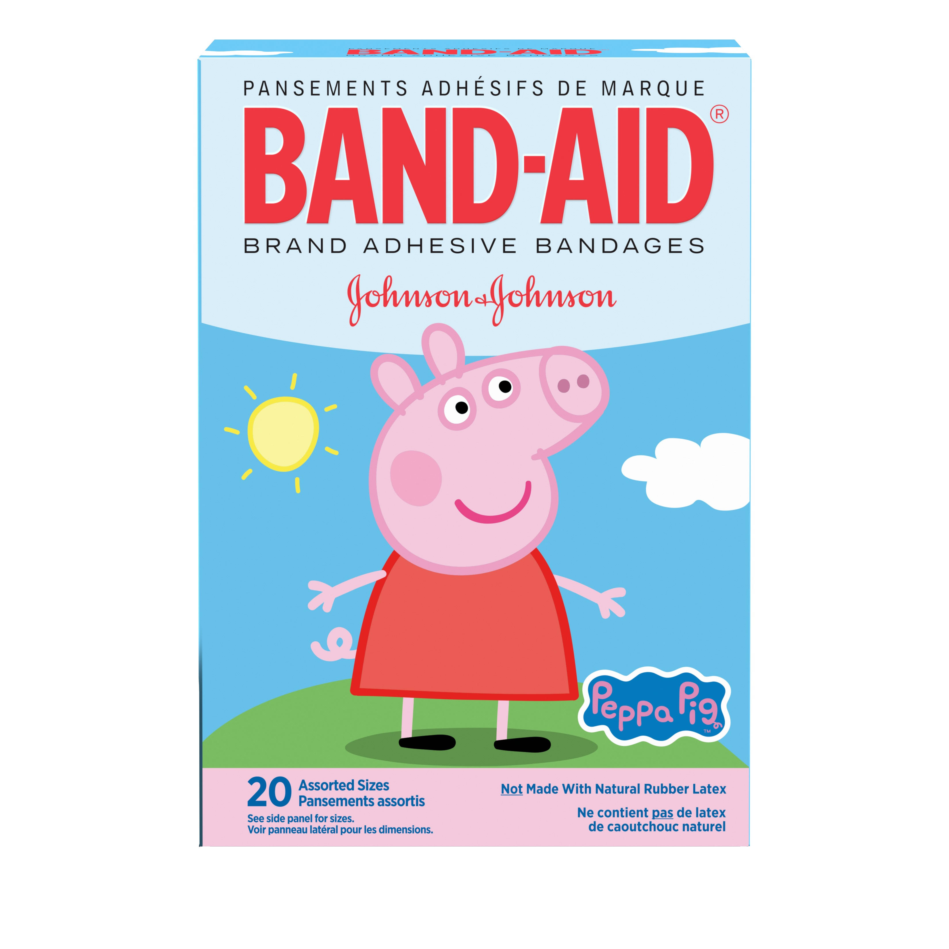 Band-Aid Bandages, Peppa Pig, Assorted Sizes 20 ct