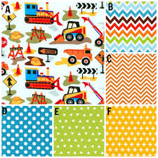100 Truck Toddler Bedding Crib Construction Tractor Bulldozer Dump Chevron Etsy