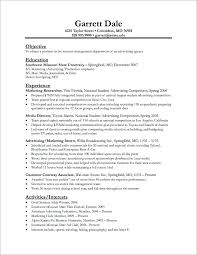 Objectives For Internship Resume Summer Examples