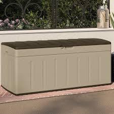suncast blow molded 99 gallon resin deck box reviews wayfair