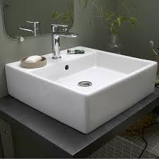 le a poser leroy merlin vasque à poser céramique l 46 x p 46 cm blanc edge leroy merlin