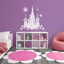 stickers pour chambre d enfant sticker mural chateau de princesse motif enfant fille pour