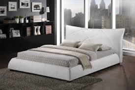 Baxton Studio Amara White Modern Bed The Holland Enhance The