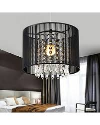 Hot Sale NEW Modern Drum Pendant Light Shade Crystal Ceiling Lamp Dining Room Living Study