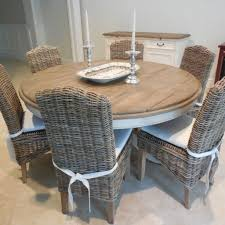 Round Kitchen Table With Wicker Chairs - It Would Be Nice If ...