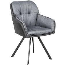 möbel lounger anthrazit grau armlehne esszimmerstuhl retro