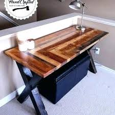 Reclaimed Wood Desk Top Office Furniture Modern Custom Desk Table Tops Wood Top Outstanding Reclaimed Furniture Inside