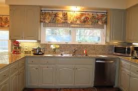 Kitchen Curtain Ideas For Small Windows by Decorations Industrial Kitchen With Soft Grey Curtains On Large