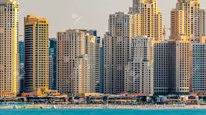100 Skyline Residence Jumeirah Beach Skyline At Sunset Time As Seen From
