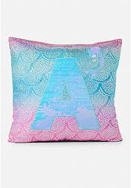 Shimmer Mermaid Initial Pillow