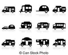 Caravan Or Camper Van Symbol