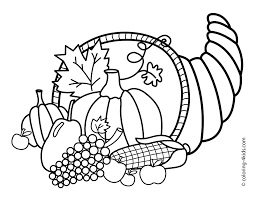 Free Coloring Pages Thanksgiving Printable Drawing