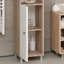 vicco badschrank fynn 190 x 30 cm eiche sonoma badezimmer hochschrank badregal