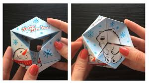 This Video Tutorial Shows How To Make A Paper Toy That Can Serve As Greeting Card For Any Holiday