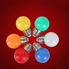 led light bulb color e27 port 3w small bulb outdoor