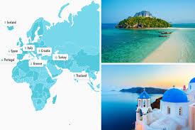 WORLD MAP THAILAND GREECE