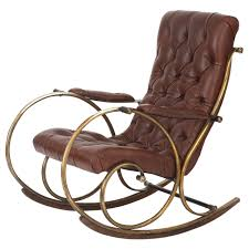 100 Comfy Rocking Chairs Leather Brass And Wood Chair By Woodard For Sale At 1stdibs