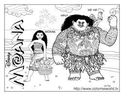 Moana And Maui Coloring Pages Get Coloring Pages