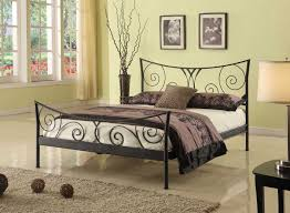 Modern Black Metal Bed Frame Queen Pretty Black Metal Bed Frame