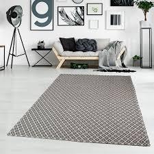 flachgewebe teppich larisa aus baumwolle in cremefarben schwarz