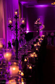 Nightmare Before Christmas Themed Room by A Very Classy Halloween Wedding I Adore The Purple Lighting A