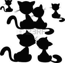 cat silhouette cat silhouette vector illustration royalty free cliparts