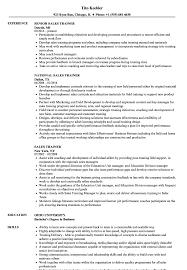 Download Sales Trainer Resume Sample As Image File