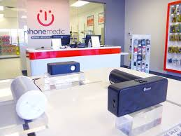 Phone Medic Independence cell phone repair store interior of
