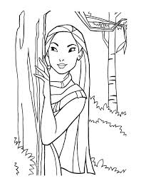 Disney Princess Coloring Pages Pocahontas 8240