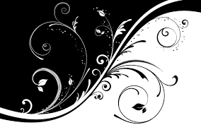 Black And White Simple Drawings Abstract Art Flowers Wallpaper