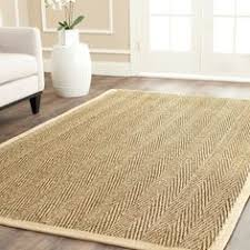 Casual Handwoven Sisal Natural Beige Seagrass Area Rug 8 Square