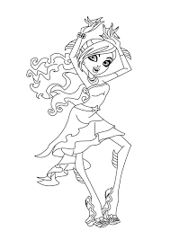 Lagoona Blue From Monster High Coloring Page