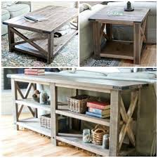 Diy Simple Wooden Desk by Remodelaholic Stylish And Simple Diy Sofa Table