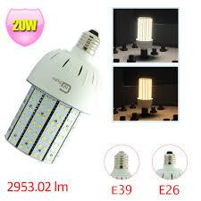 20w led corn bulb light l e26 medium base 100w hps mh retrofit