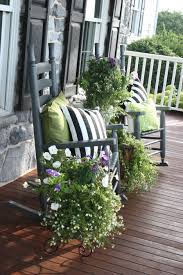 Flower Pots Ideas For Front Porch Design Idea With Dark Grey Painted Rustic