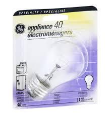 ge specialty appliance medium base 40w clear light bulb hy vee
