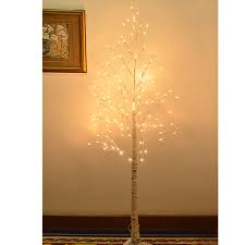 8FT 132L LED Birch Tree Christmas Light Tall W Icicle Twinkling Decoration 1 Of 5FREE Shipping