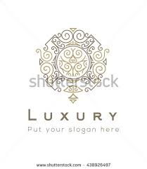 Luxury Logo Template Flourishes Calligraphic Elegant Ornament Lines Business Sign Identity For