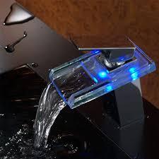 Elektrischer Wasserhahn Durchlauferhitzer Armatur Mischbatterie Led Elektrischer Wasserhahn Durchlauferhitzer Beleuchteter Wasserfall Glas Durchlauferhitzer Wasserhahn 3 Farbewechsel Beleuchtung Bad Armatur