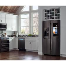 Samsung Counter Depth Refrigerator Home Depot by Samsung 27 9 Cu Ft Family Hub 4 Door Flex French Door