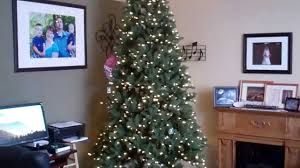 Flocked Artificial Christmas Trees Sale by Costco Ez Connect Artificial Christmas Tree 9ft Set Up Youtube