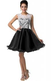 Cap Sleeved A Line Lace Bodice Short Dress