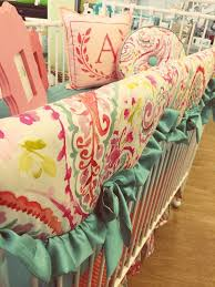 Teal And Coral Baby Bedding by Nursery Beddings Coral Crib Bedding Canada With Coral And Teal