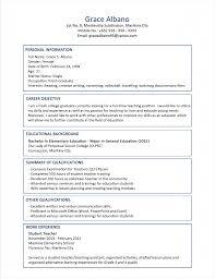 Sample Resume Format Objective In For Fresh Graduate