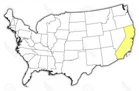 Photopolitical Map Of United States With The Several Where California Is Highlighted