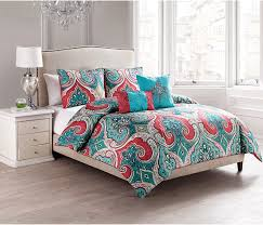 Coral Colored Bedding by Turquoise Comforter 5pc Full Queen Comforter Set Reversible