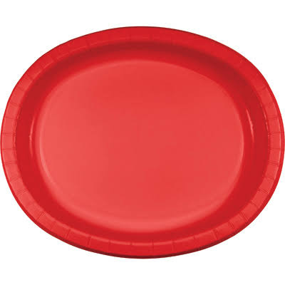 Creative Converting Oval Paper Platters - Classic Red, 8ct
