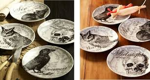 Dishes of Darkness Pottery Barn Inspired Halloween Plates}