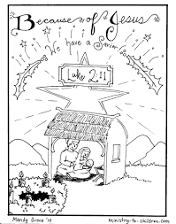 Download Coloring Pages Nativity Scene Jesus Is Here