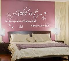 wandtattoo schlafzimmer liebe ist das einzige wallsticker wohnzimmer spruch ebay